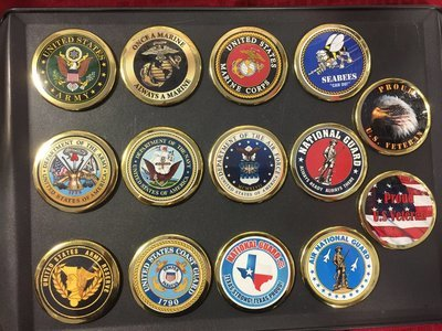 MILITARY SERVICE MAGNET