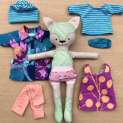 Heather Cat Doll, Clothes and Carrier