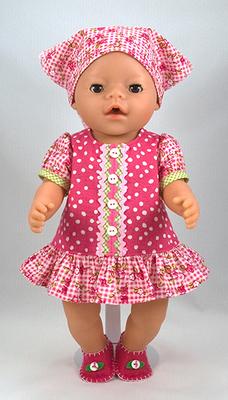 Free Baby Doll Dress, Shoes and Bandana Pattern