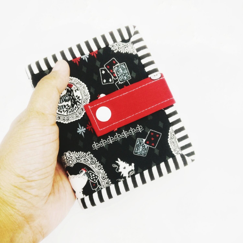 Alice in Wonderland Handmade Small Bifold Wallet