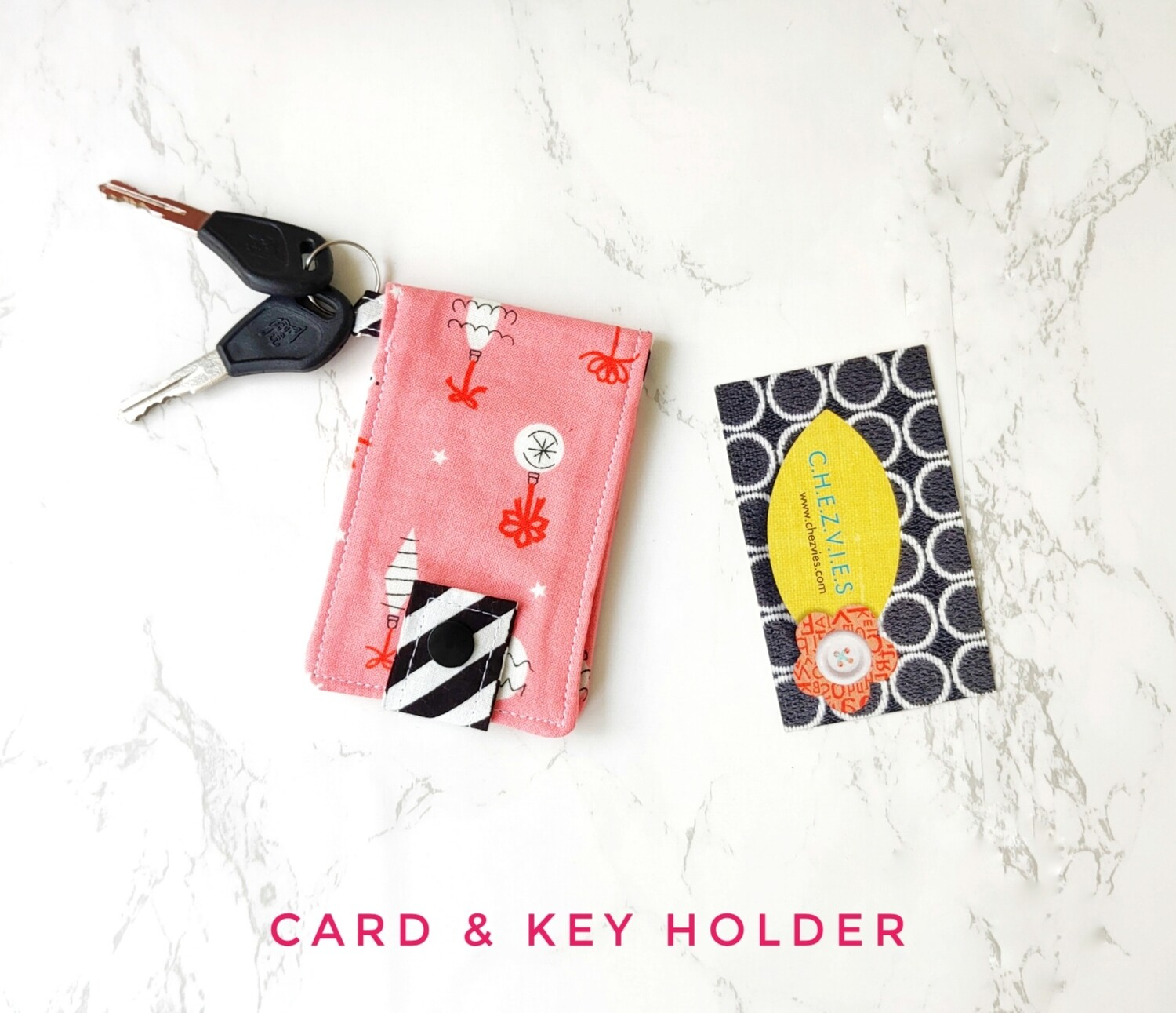 Key and Card Holder Mini Wallet