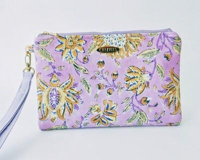 Floral Purple Wristlet Wallet