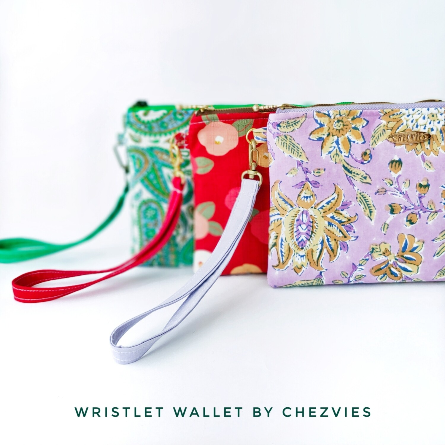 Floral Purple Wristlet Wallet
