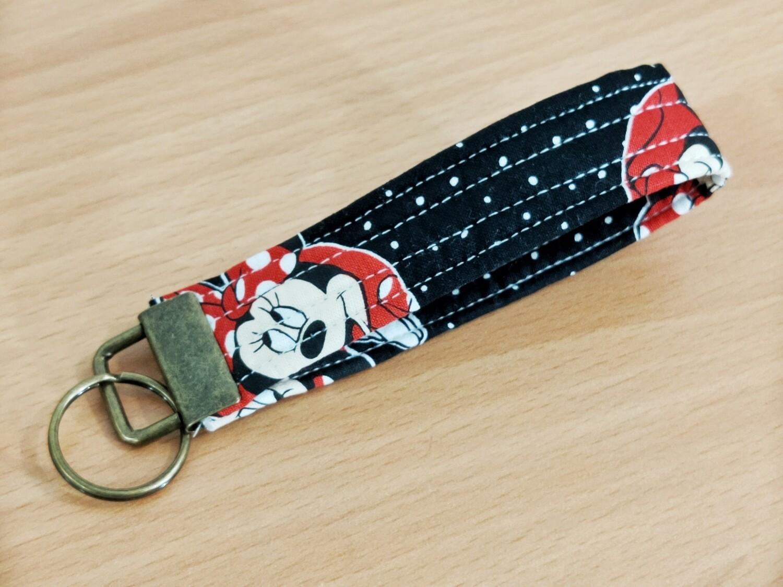 Keyfob Keyring Antique Minnie Mouse