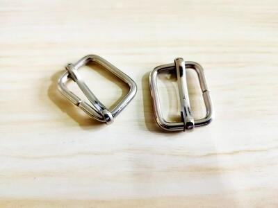 Set of 2 Bag Handle Buckel Slider Metal Nickel 3/4