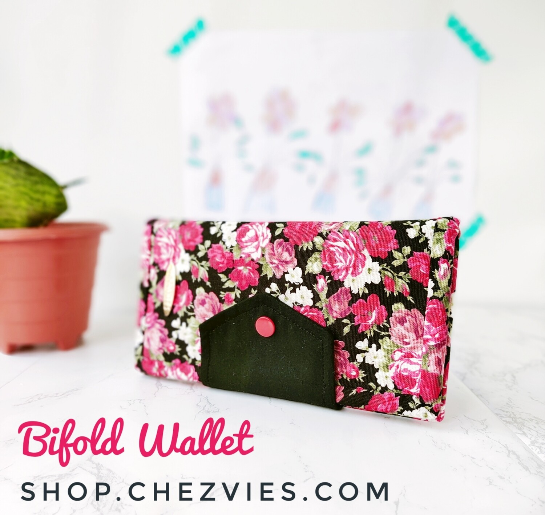 Handmade Bifold Wallet for Women, Linen Wallet