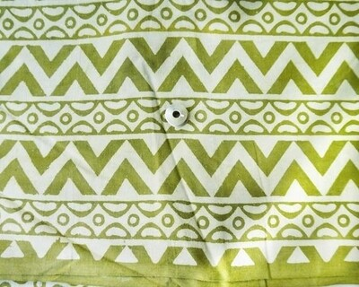 Green Daboo Mud Cloth Cotton Fabric