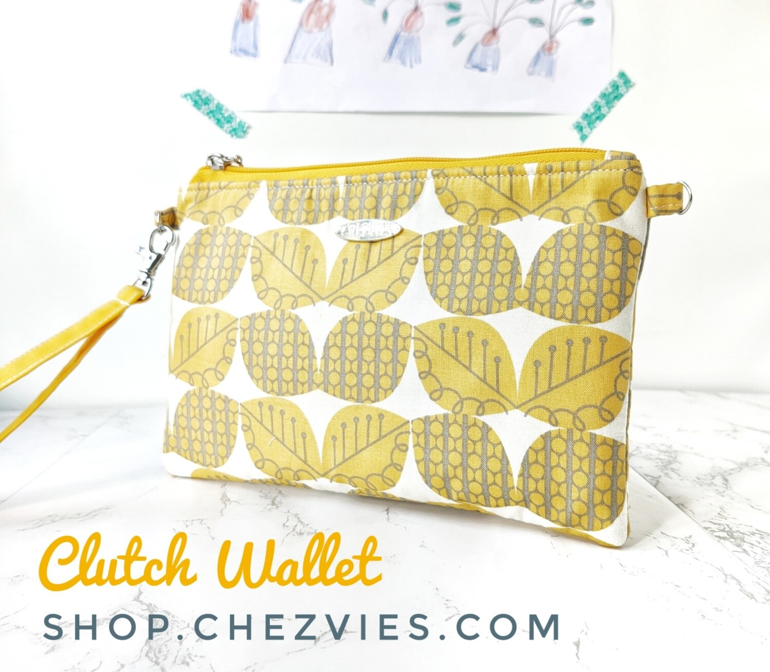 Yellow Clucth Wallet