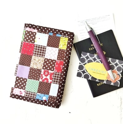 Patchwork Passport Cover - Handcrafted Travel Wallet