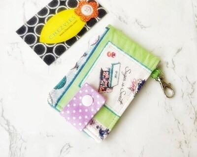 Shabby Chic Key and Card Holder Mini Wallet