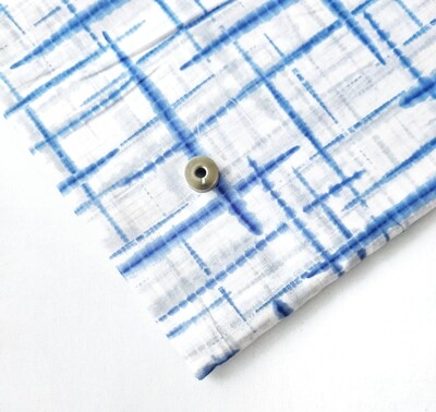 Blue Geometric Lightweight Cotton Fabric