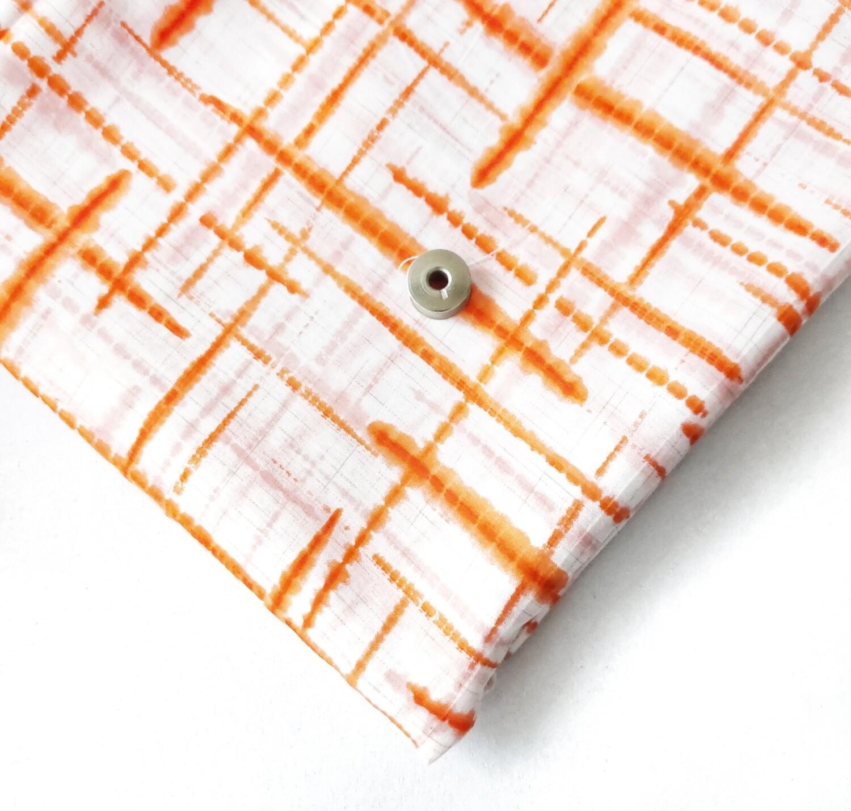 Orange Geometric Lightweight Cotton Fabric