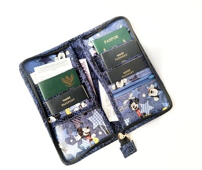 Disney Family Passport Wallet - 6 Passports