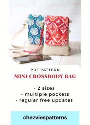 PdF Pattern - Mini Cross Body Bag and Kindle Case