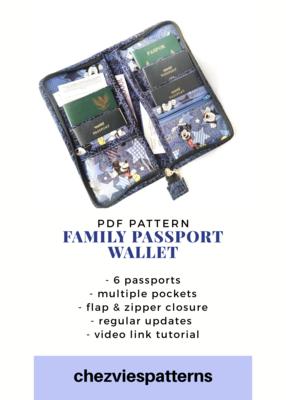 PdF Sewing Pattern- Family Passport Wallet