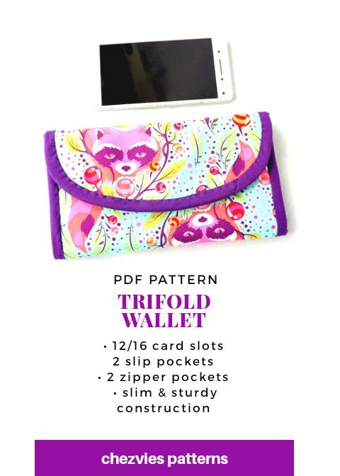 Pdf Pattern Trifold Wallet