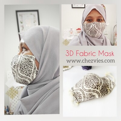 Pdf Pattern Spacious 3D Fitted Face Mask with Filter Pocket