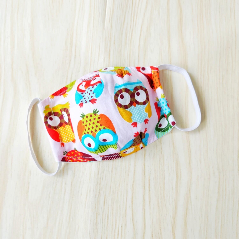 Cute Owl Print Handmade Face Mask - Pre Order