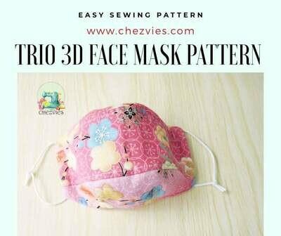 PdF PATTERN - TRIO 3D Face Mask