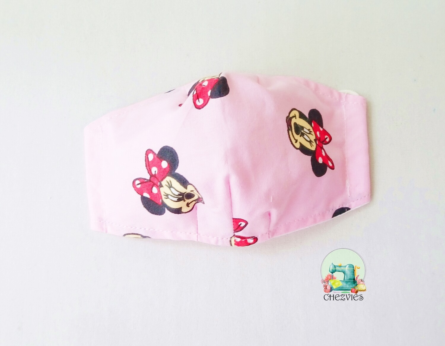 Pink Minnie Mouse Face Mask - Pre Order
