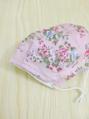 2 Layers Cotton Handmade Fabric Face Mask - 3D Spacious Design -  Soft Pink Rose