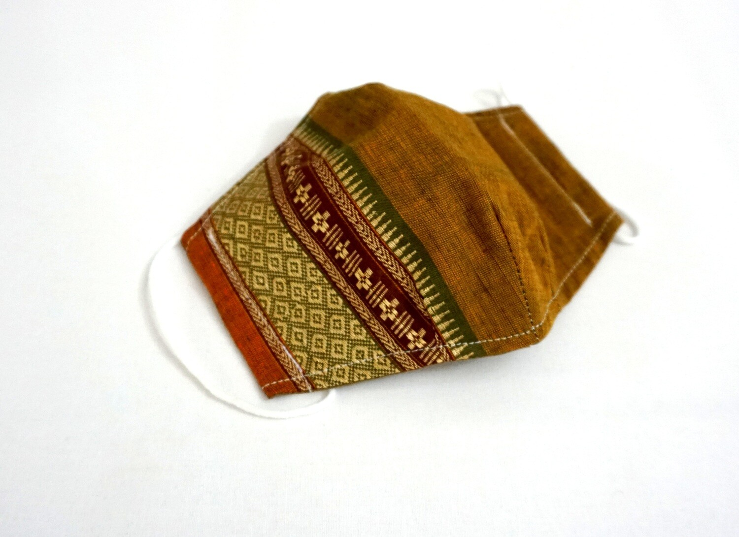 2 Layers Handloom Cotton 3D Fitted Face Mask,