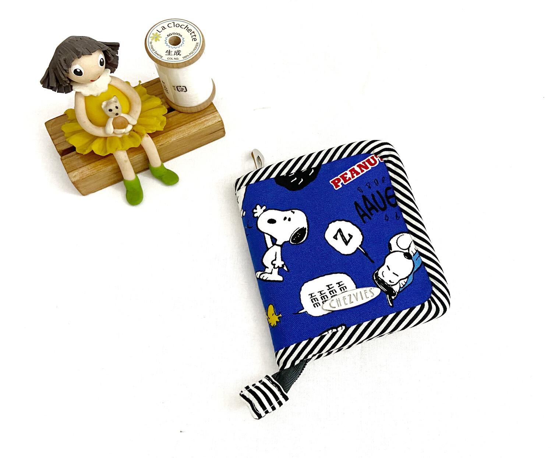 Snoopy Handmade Zip Around Mini Bifold Wallet