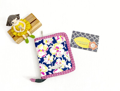 Floral Small Zip Around Bifold Wallet