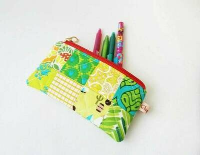 Small Patchwork Zipper Pouch