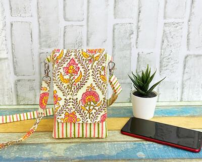 Mobile Sling Bag - Floral and Stripe