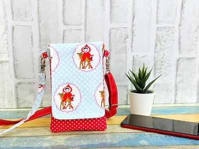 Mobile Sling Bag -Red Riding Hood Polkadot