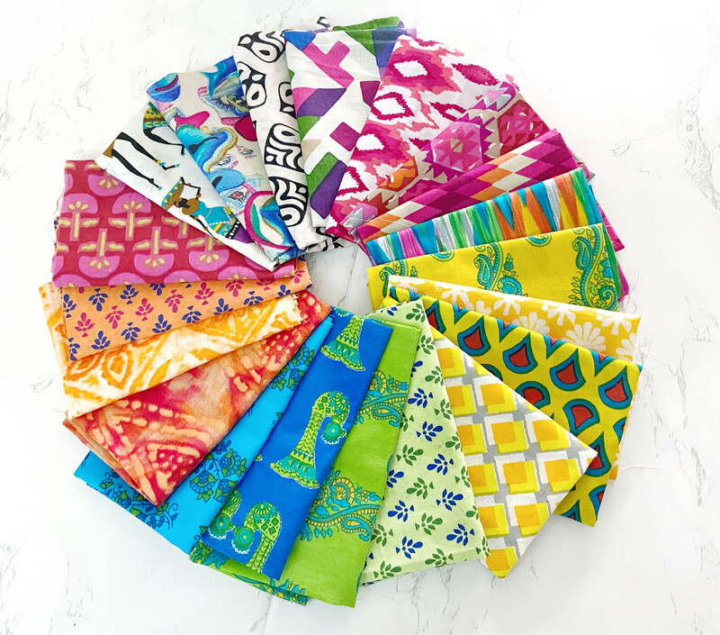 20 Fat Eighth Fabric Bundle for Quilting and Crafting