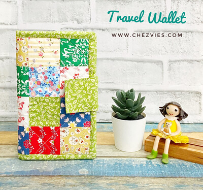 Patchwork Travel Wallet