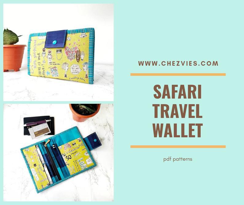 Pdf Pattern SAFARI Travel Wallet