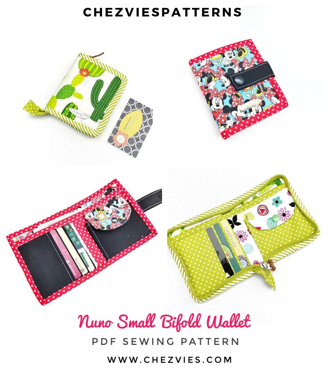 Nuno Wallet Sewing Pattern - Small Wallet Pattern