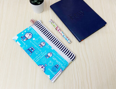Doraemon Double Zipper Pencil Pouch