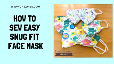 Easy 3D Snug Fit Face Mask Pdf Pattern