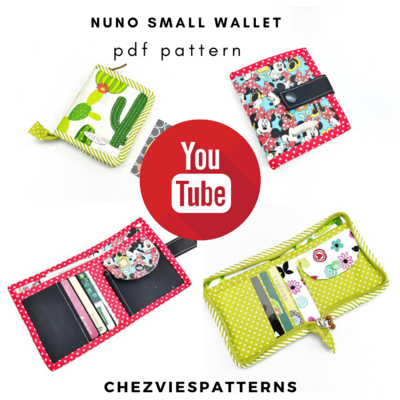 Nuno Wallet Sewing Pattern - Small Wallet Pattern