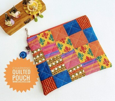 Easy Basic Patchwork Pouch Bag Pdf Sewing Pattern