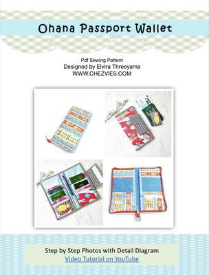 PdF Sewing Pattern- Ohana Family Passport Wallet