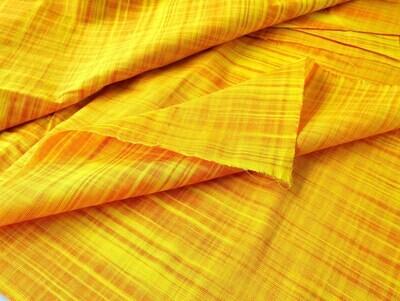 Yellow Slub Cotton Indian Handwoven Fabric, Mustard Solid Textured Cotton Fabrics, 44 Inch Wide, Sold by Half Yard