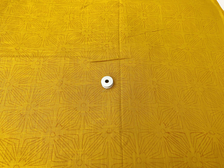 Mustard Yellow Slub Cotton-44 Inches Wide