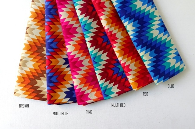 Geometric Aztec Chevron - available in 6 colors