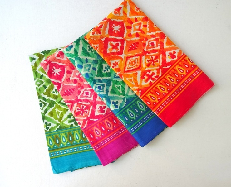 Vibrant block print fabric