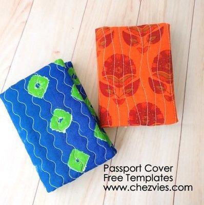FREE TEMPLATES - Single Passport Sleeve