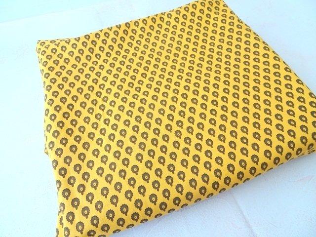 Yellow Mustard Indian cotton fabric,dress material