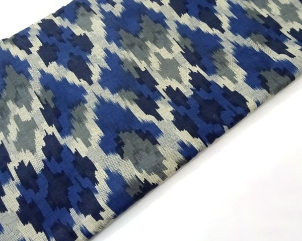 Indigo Blue Ikat Fabric