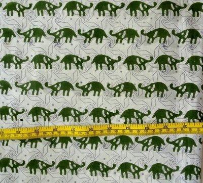 small elephant block print cotton fabric dress material