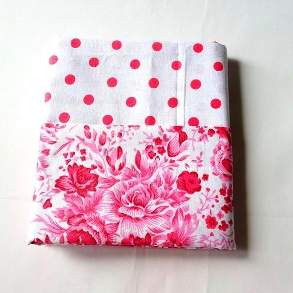 Half Yard Bundle Pink Flower and Polkadots