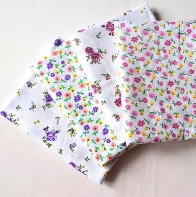 Floral Fat Quarter Bundle in Pink and Purple  Flower